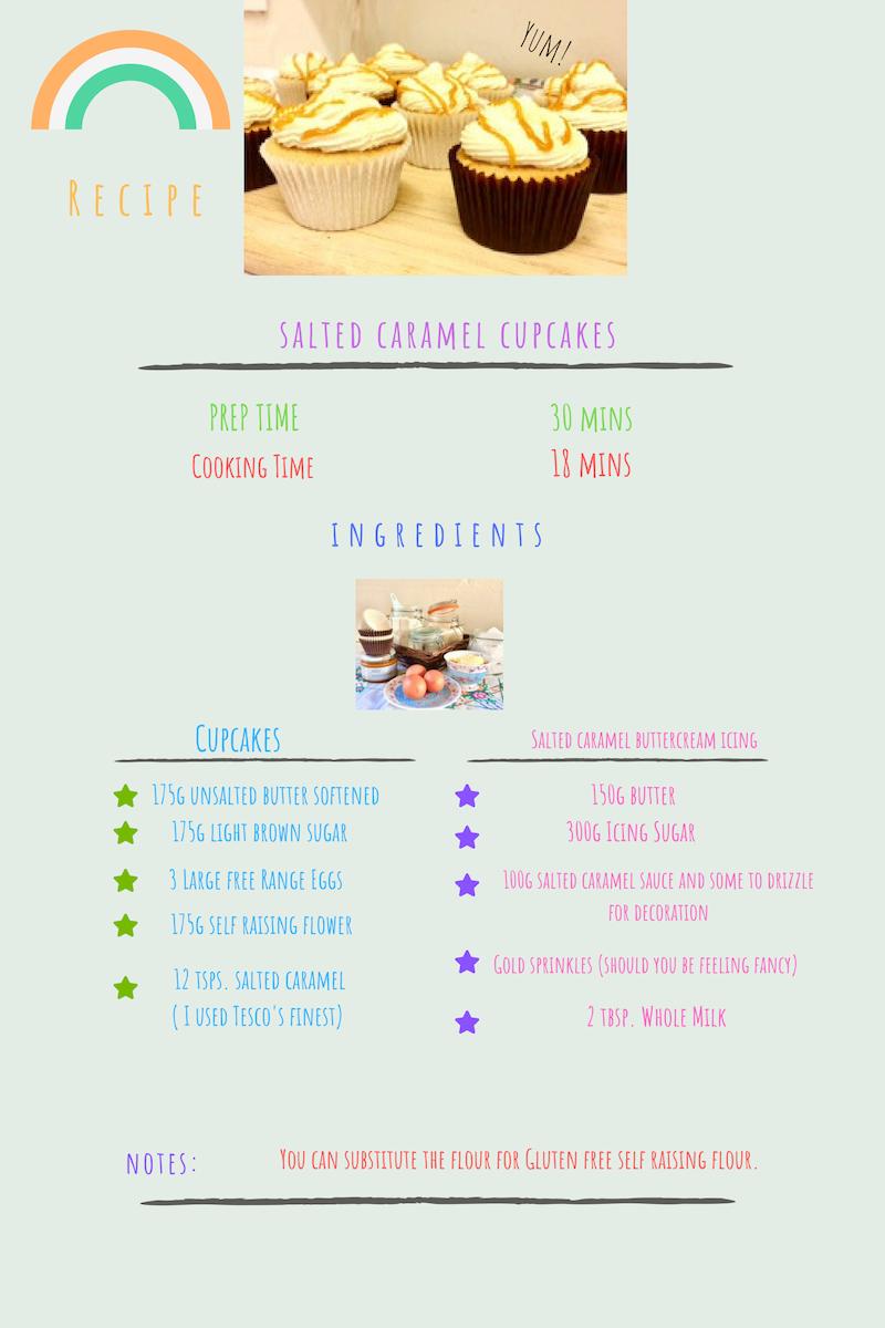 Tsalted caramel cupcakes
